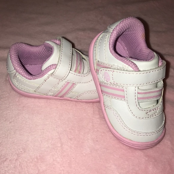 5f48f56c7a Stride Rite - keeva baby girls sneakers size 3 1 2.  M 5a9e2c69331627d9ddb7ff3a